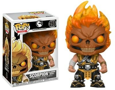 Funko POP! - Mortal Combat X - Scorpion Flaming Skull Figur