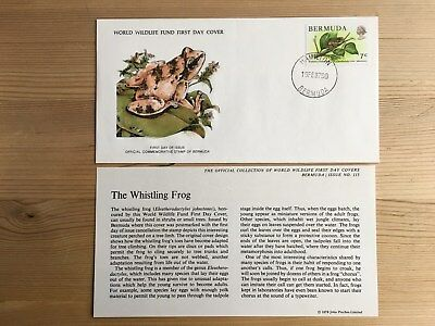 Bermuda Wwf Fdc 1979 Whistling Frog Rare Availability Ltd Edition