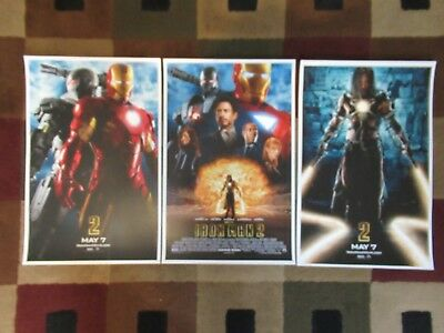 """Iron man 2 (11"""" x 17"""") Movie Collector's Poster Prints (Set of 3)"""