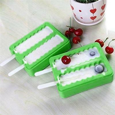 Silicone sicle Mold Tray Ice Cream Mold Ice  Lolly Maker Frozen Mould D