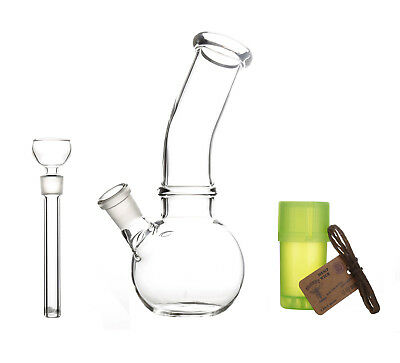 "6.9"" Glass Water Pipe Bong Bubbler Smoking Pipe Beaker Hookah Free Shipping"