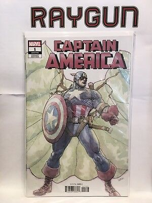 Captain America #1 LGY #705 Yu Variant NM- 1st Print Marvel Comics