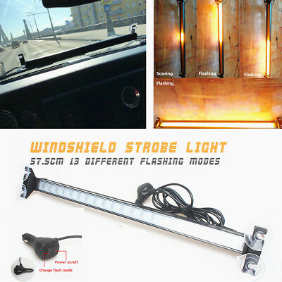 Flashing LED Flowing Scaning Fireman Police Beacon Car Windshield Strobe 57.5cm