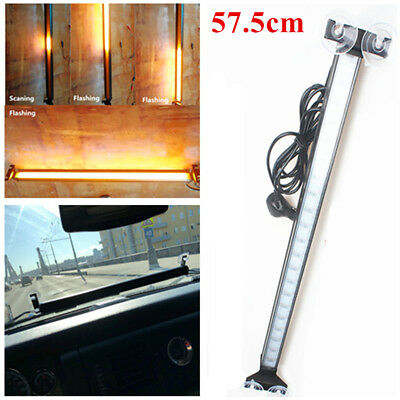 57.5cm Windshield Flash LED Flowing Scaning Light Signal Fireman Police Beacon