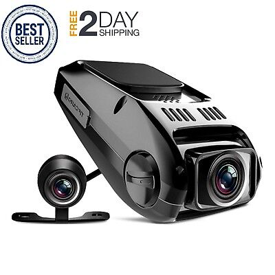 New Dual Dash Cam Tryace T8P Full HD1080P 170 Degree Wide Angle Dashboard Camera