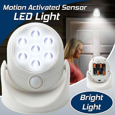 360° 7 LED PIR Motion Activated Cordless Sensor Security Light Indoor Outdoor