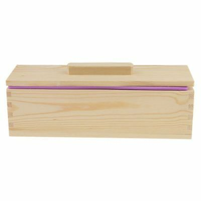 DIY Handmade Soap Silicone Mold - Rectangular Soap Mold with Wooden Box and T3F2
