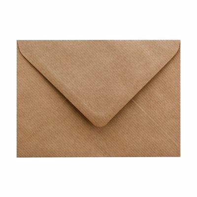 C7 A7 Brown Ribbed Kraft Envelopes 100gsm For Greeting Cards , 82mm x 113mm