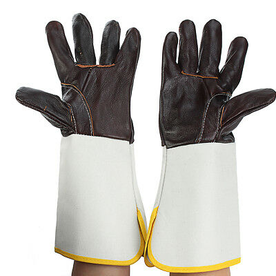 Work Soft Cowhide Welding Gloves Protective MIG/TIG Heat Shield Resistant Cover