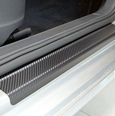 4Pcs Car Accessories Door Sill Scuff Pedal Protect Carbon Fiber Welcome Stickers