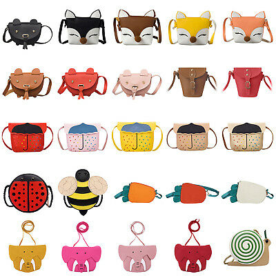 Kid Baby Girl PU Leather Shoulder Bag Messenger Handbag Crossbody Purse Satchel