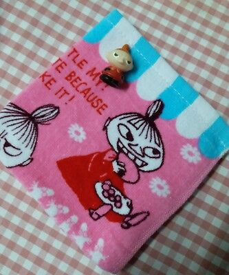 Moomin Valley Little My Hand Towel  Finger Figure set pink