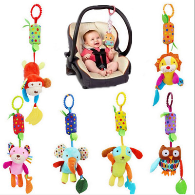 UK Baby Crib Cot Pram Hanging Rattles Activity Spiral Stroller Car Seat Toy Hot