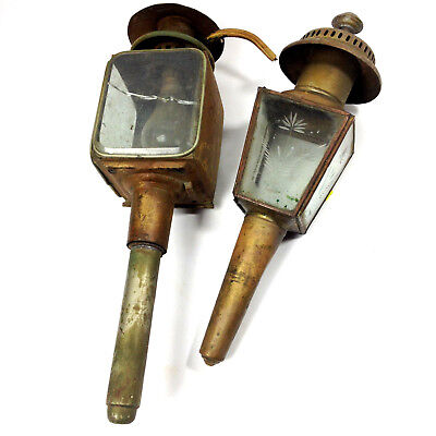 2 x Vintage Carriage Lanterns For Parts or Repair Railway