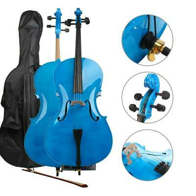 4/4 Size Black Wood Cello Set for Student Beginners Professional Player UK
