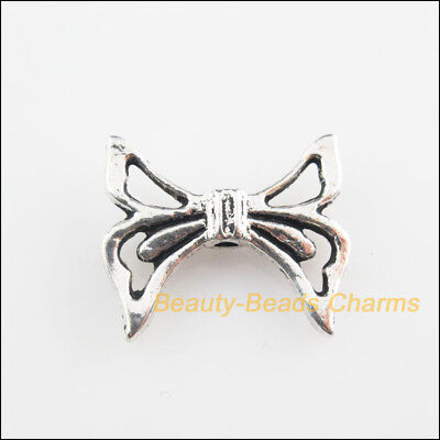 8Pcs Tibetan Silver Tone Knot Wings Spacer Beads Charms 16.5x20mm