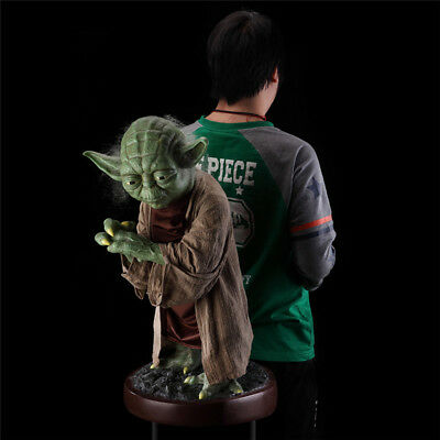 New Custom Star Wars 1/1 Life Size Master Yoda Statue 85cm Tall