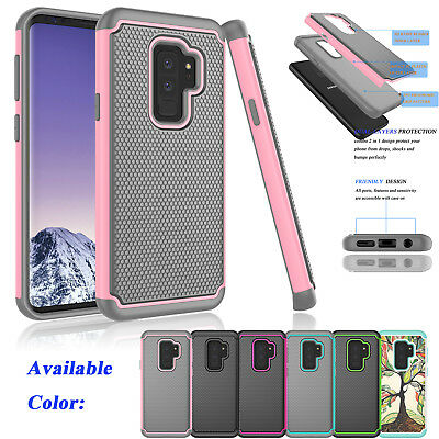 For Samsung Galaxy S9 Plus Shockproof Armor Hybrid Rubber Rugged Hard Case Cover