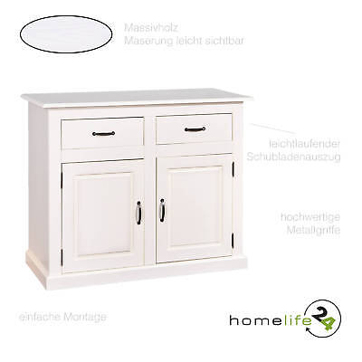 Kommode 2 Turig Sideboard Highboard Im Landhausstil Schrank