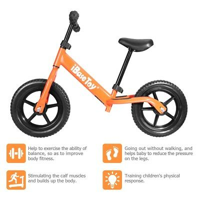 Kids Balance Bike  Sports Lightweight Boys Orange Running Bike Ages for 2 to 4