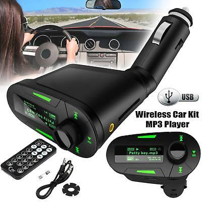 2018 Car Fm Kit Wireless Transmitter Mp3 USB Player Charger Music Dual +Adapter