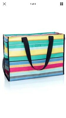 THIRTYONE Thirty-One 31 Gifts Deluxe Organizing Utility Tote BRAND NEW Patio Pop