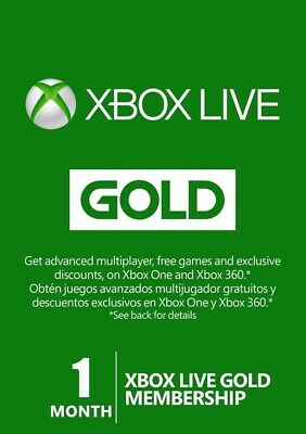 Xbox Live Gold 1 Month Membership Subscription for Microsoft Xbox One 360  - CA