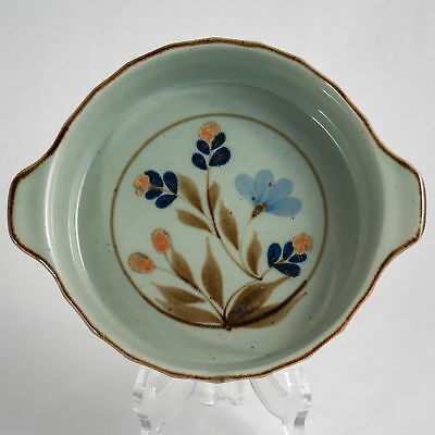 Highland Stoneware Celadon Floral Oven to Table Serving Dish c.1978-85