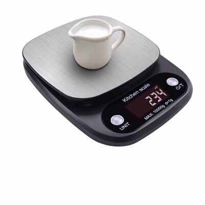 Kitchen Scales Baking Weight Digital LCD Electronic Weighing 10kg(gray) Y2O1