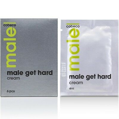 Cobeco MALE Get Hard Erection Cream 6 x 4ml Sachets - For Longer Lasting Fun!