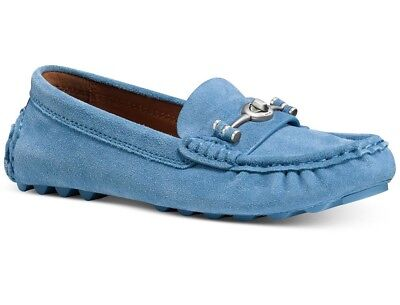 525268b0cf4 COACH CROSBY DRIVER Flats Shoes Womens Size 7.5 Chambrey  BLUE  -  148.00