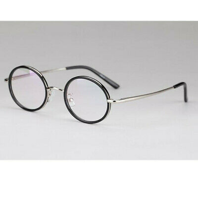 f78b83d0330ca Vintage 43mm Oval Round Eyeglass Frames Spring Hinges Full Rim Rx able  Glasses