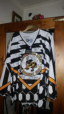 Bracknell Bees, Used Jersey, Signed - Whole Team - Rare!!! Vintage Bee's