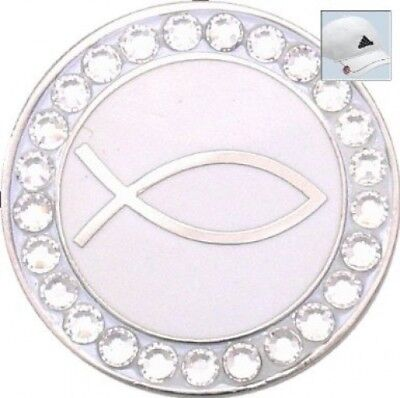 Bella. Crystal Golf Ball Marker & Hat Clip - Christianity. Shipping is Free