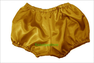Golden Women Satin Pants Pantaloons Sissy Maid Adult Baby Fits With Underwear