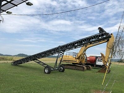 "36"" x 60' Portable Radial Stacking Conveyor 15HP Sand Gravel Mulch Limestone"