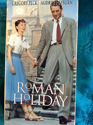 Gregory Peck ROMAN HOLIDAY Audrey Hepburn romantic comedy princess Rome vhs HLFL