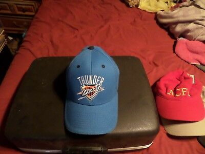official photos 54b4d f381c Oklahoma City Thunder OKC NBA Adjustable Hat Cap Blue New see listing
