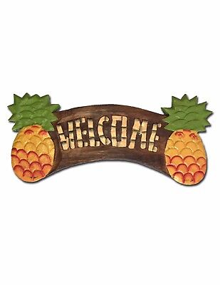 Painted Pineapples Welcome Home Plaque Sign