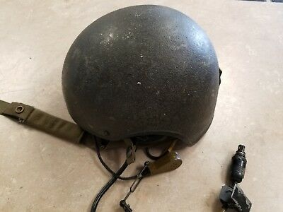 US Military Issue Combat Vehicle Crewman CVC DH-132A Helmet Large Used Green