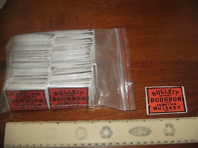 (10) Bulleit Bourbon Frontier Whiskey Distillery Embroidered Patches Dealers Lot