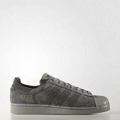 New Men's Adidas Originals Superstar Shoes  [Bz0216]  Grey//utility Black