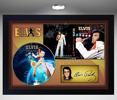 Elvis Presley Aloha from Hawai  SIGNED FRAMED PHOTO CD Disc Perfect gift #2