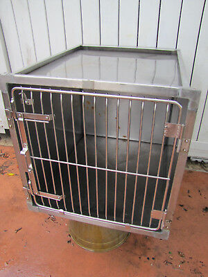 Stainless Steel Kennel Cages 24x24x28 Cat Dog Grooming Vet Used (Shor-line Type)