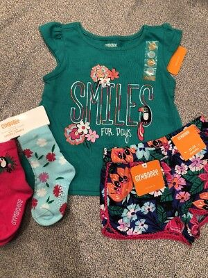 NWT Gymboree baby girl jungle brights toucan smile 4-piece SET 12 18 month 5 5T