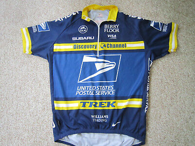 d78f26812 NIKE USPS Cycling Jersey Dri Fit Size Large Discovery Channel Trek Subaru
