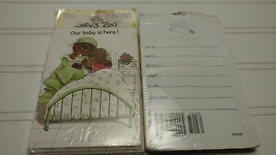 Vintage Suzy's Zoo- Birth Announcements- Packages of 10 Cards Each- New