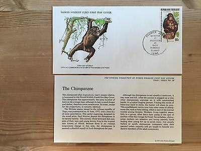 Togo Togolaise Wwf Fdc 1977 Chimpanzee Monkey Rare Availability Ltd Edition