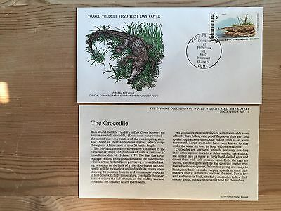 Togo Togolaise Wwf Fdc 1977 Crocodile Rare Availability Ltd Edition
