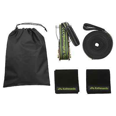 Kathmandu Classic Garden Outdoor Strength Balance Training 15m Slackline Set